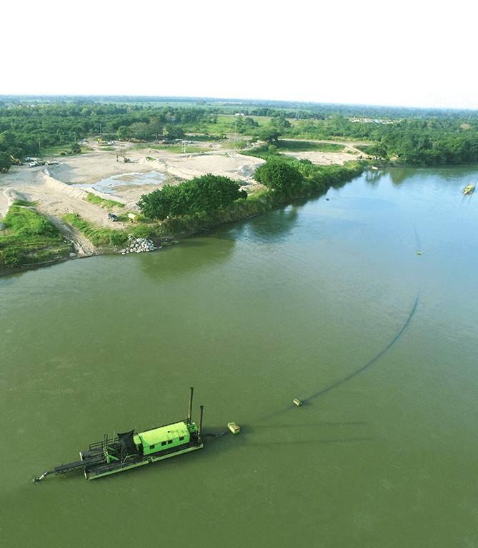 Desasolve de lagos y ríos