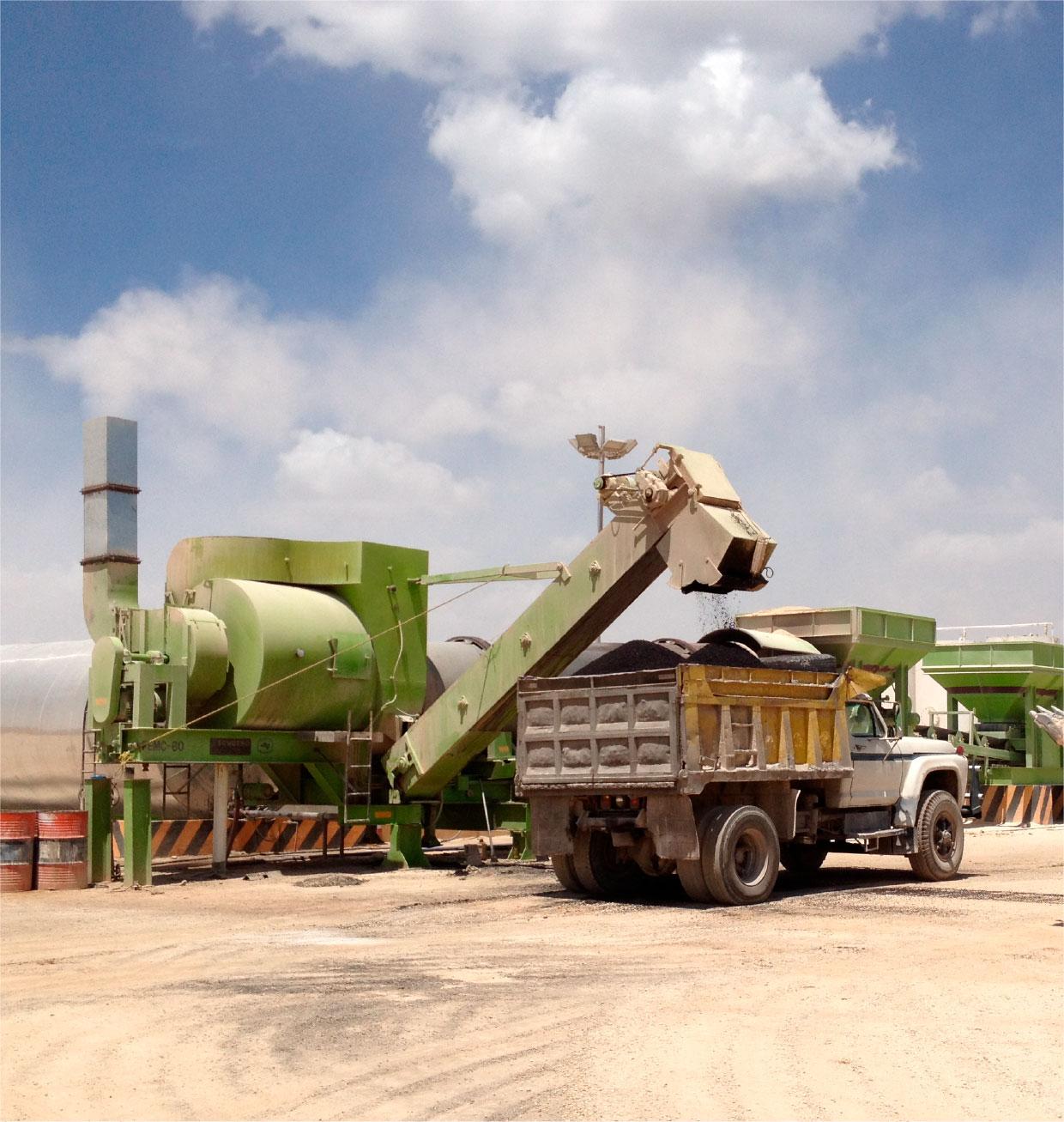 Planta de asfalto de producción continua